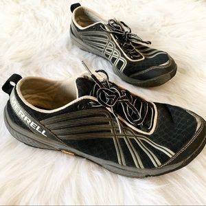 Merrell Black Silver Vibram Sole Lace Up Sneakers